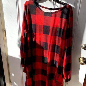 BNWT Plaid Midi Dress Size 3X